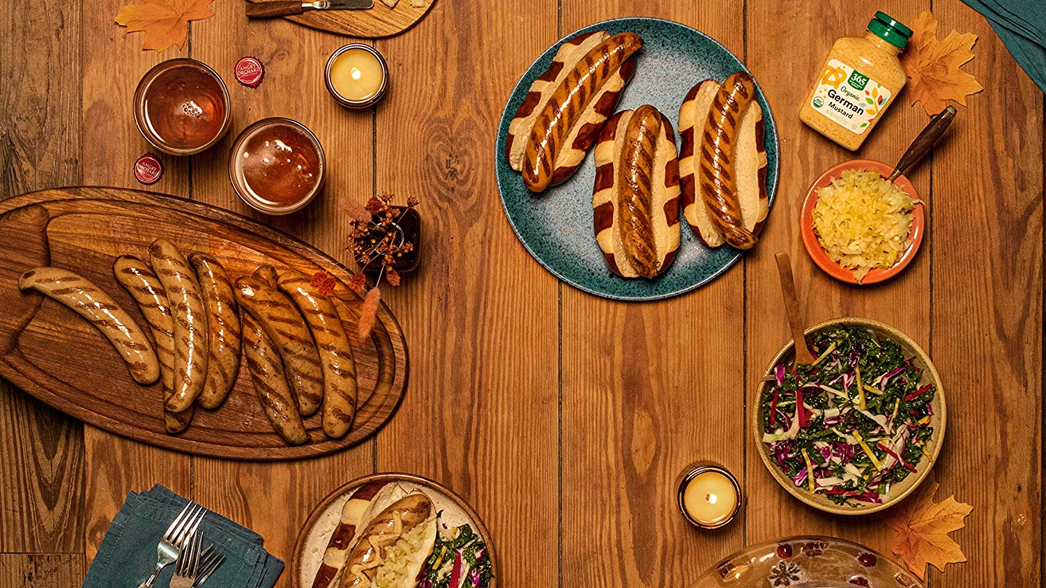 Fall Tablescape with Bratwurst