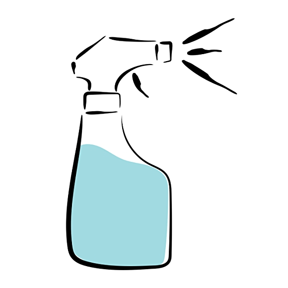 illustration of cleaning spray