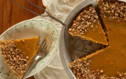 Butternut Custard Pecan Pie