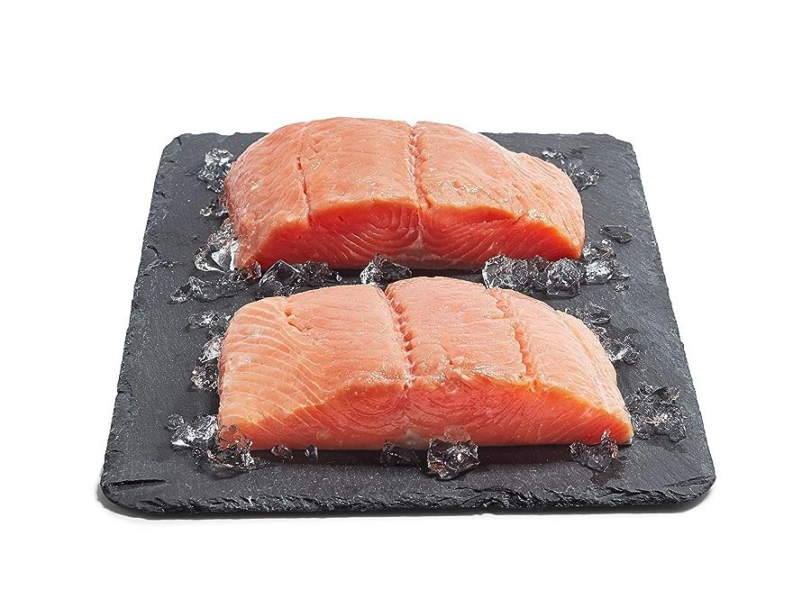 Salmon Fillets on Ice