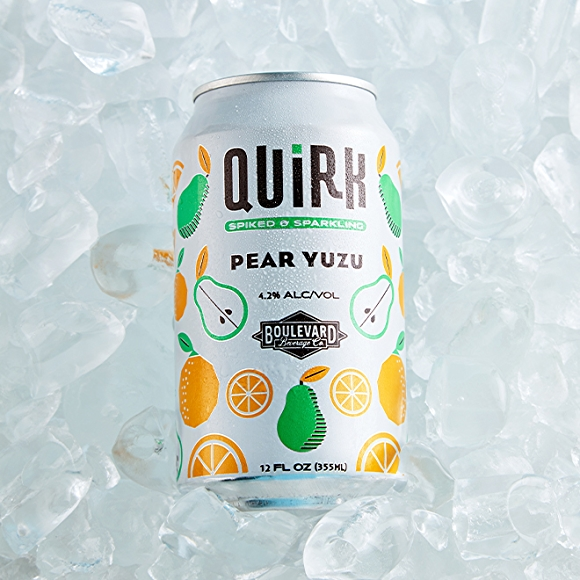 Quirk Pear Yuzu Seltzer drink
