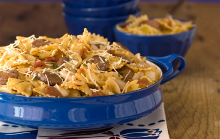 Bowtie Pasta with Sausage and Sage