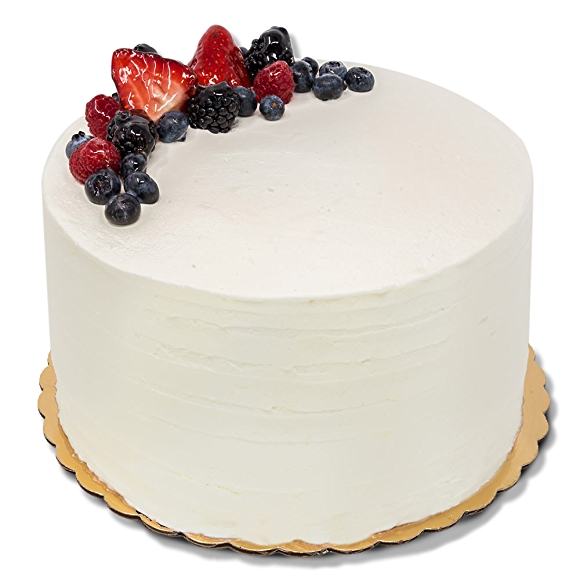 Round 8 inch berry chantilly cake