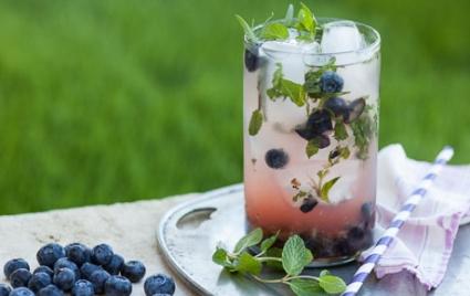 Blueberry Lemonade Herb Punch