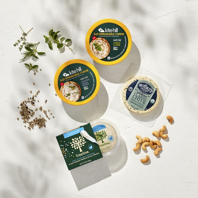 Plant-based cheese options at Whole Foods Market