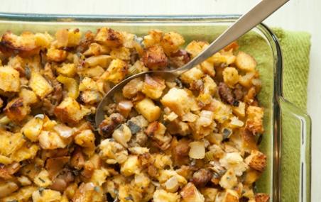 Apple, Sausage and Sage Sourdough Stuffing