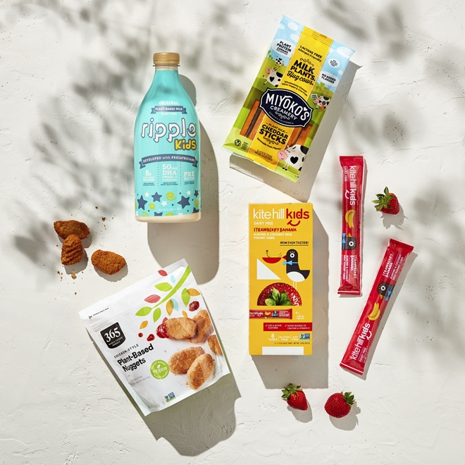 Plant-based kids' products at Whole Foods Market