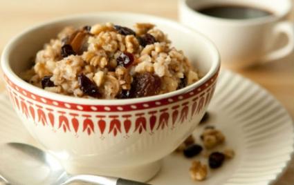 Apple Scented Breakfast Oatmeal with Buckwheat