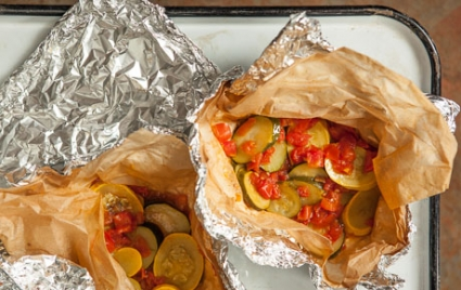 Marinated Summer Squash Grilling Packets