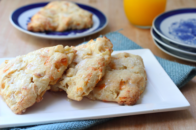 Apple Cheddar Scones with Honey Glaze   Used with Permission: What Jew Wanna Eat