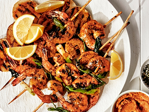 Recipe: Grilled Shrimp and Turnips with Miso-Ginger Butter