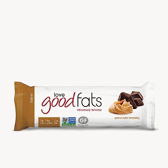 Good fats peanut butter chocolatey bar