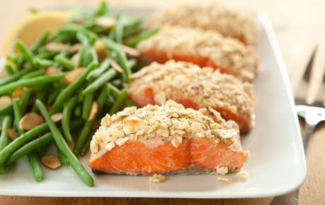 Easy Matzo-Crusted Wild Salmon