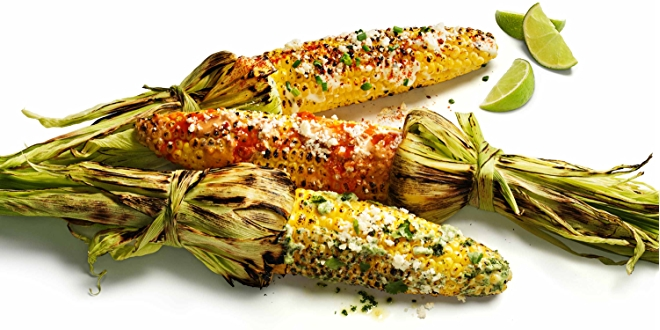 Image of grilled mexican street corn.