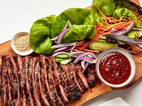 Recipe: Korean-Style Beef Lettuce Wraps