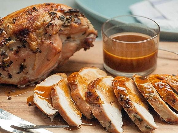 Roast Turkey Breast with Apple Cider Gravy Recipe