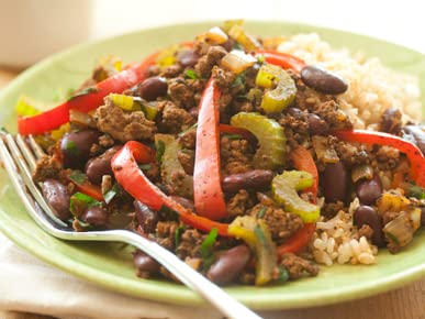 Cajun Grass-Fed Beef Skillet Supper