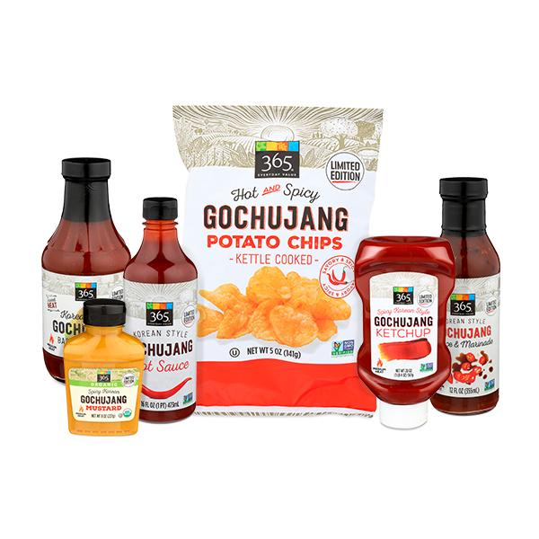 gochujang, gochujang hot sauce, gochujang chips, gochujang condiments, gochujang ketchup, gochujang mustard, gochujang suace and marinade