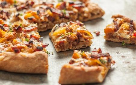 Onion, Bacon and Butternut Tart