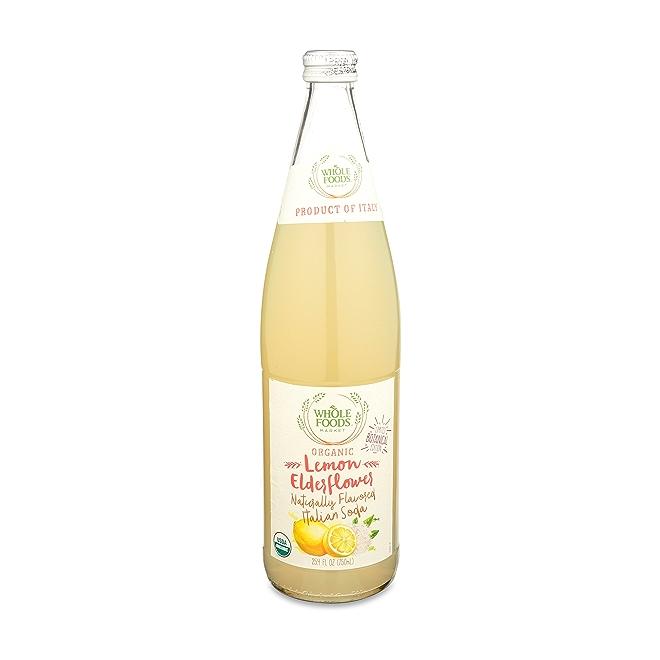 Organic Lemon Elderflower Italian Soda