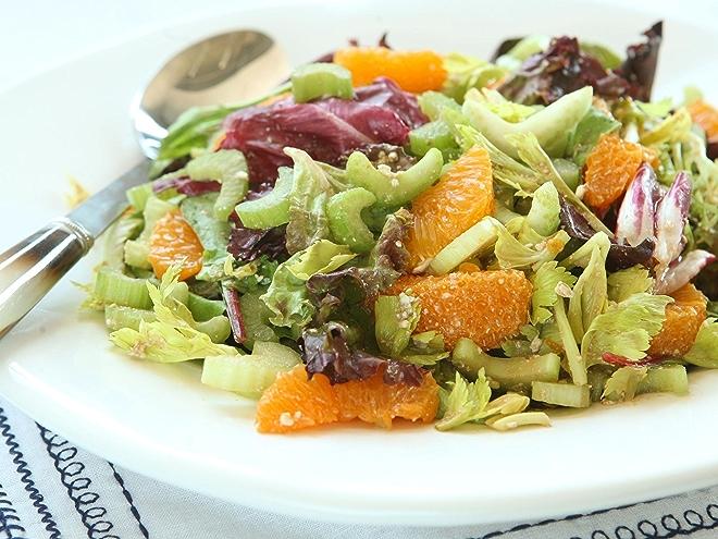 Celery Citrus Salad with Balsamic and Feta recipe