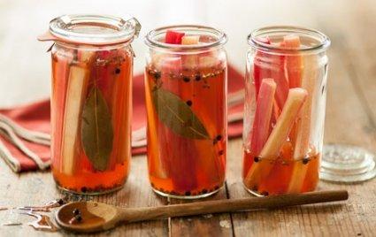 Rhubarb Refrigerator Pickles