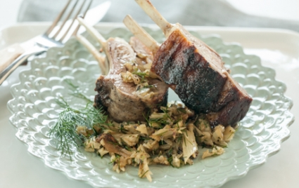 Grilled Rack of Lamb and Fennel