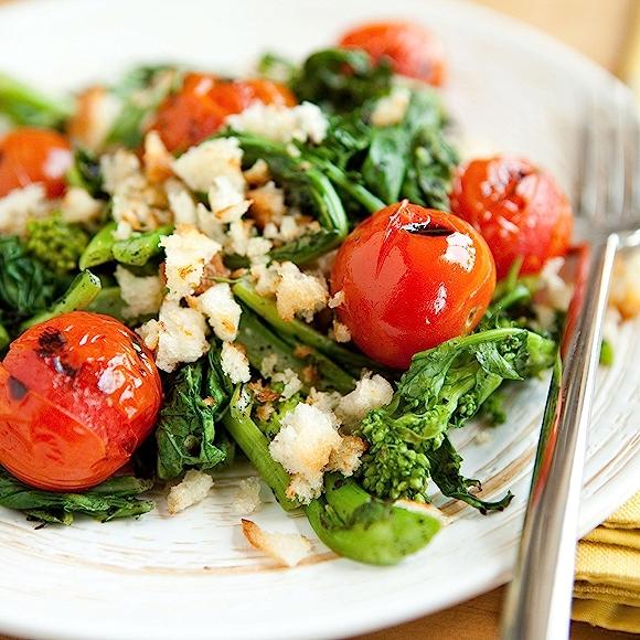 recipe: Grilled Tomato and Broccoli Rabe Salad