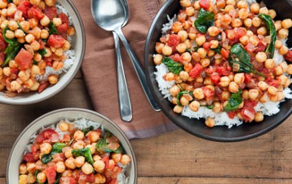 Tamarind Spiced Chickpeas and Spinach
