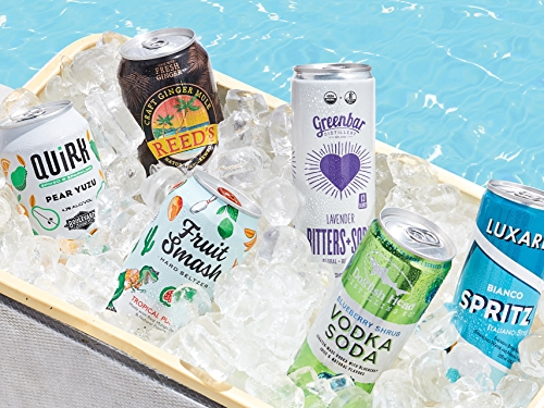 Canned Seltzers and Cocktails in Ice