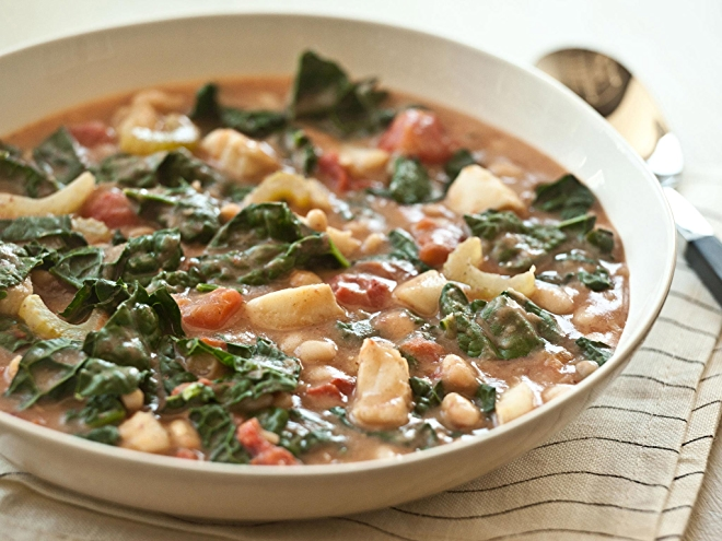 Italian Chowder with Cod and Kale