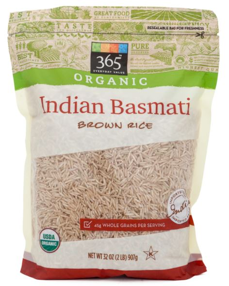 365 Everyday Value® Organic Indian Basmati Brown Rice