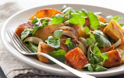 Roasted Vegetable Salad with Citrus-Ale Vinaigrette