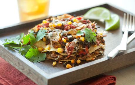 Layered Veggie Enchilada