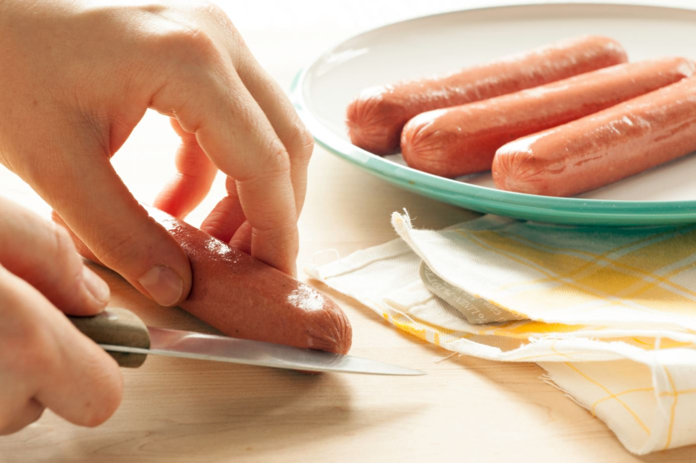 Hot Dog Sea Monsters Step 1