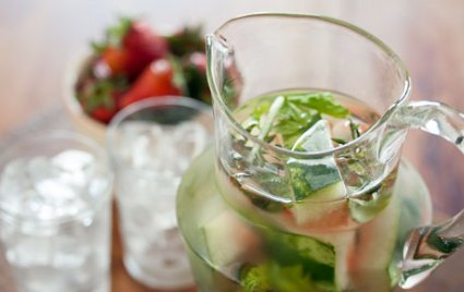 Strawberry-Watermelon Water With Basil