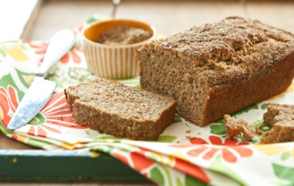Flax and Honey Banana Bread