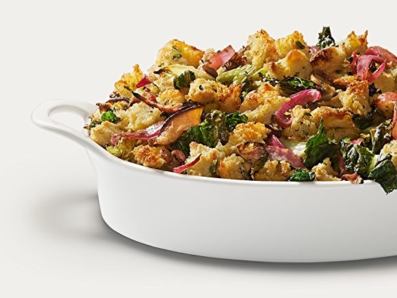 Recipe: Sourdough Stuffing with Mushrooms and Kale