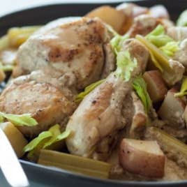 Classic Braised Chicken with Celery and Potatoes