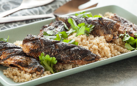 Grilled Spiced Sardines with Couscous