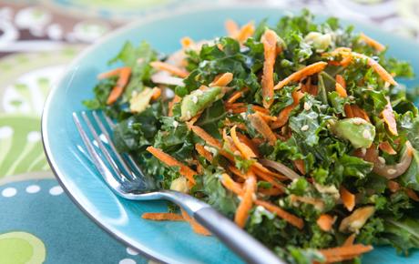 Kale, Carrot and Avocado Salad
