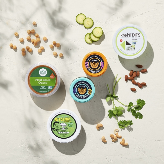 Plant-based dip options at Whole Foods Market