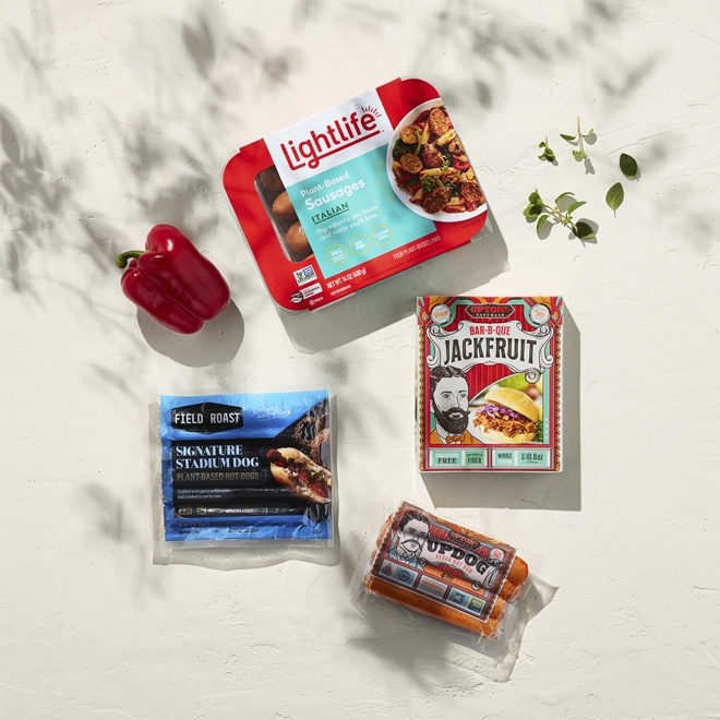 Plant-based BBQ options at Whole Foods Market