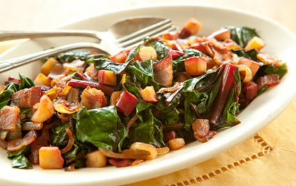 Chard with Bacon and Apple