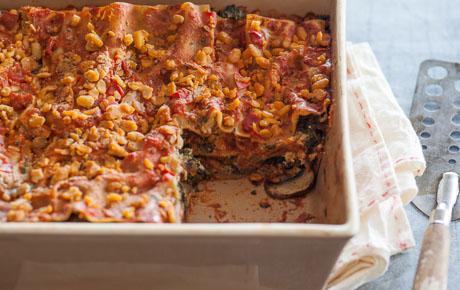 Vegan Tempeh and Veggie Lasagna