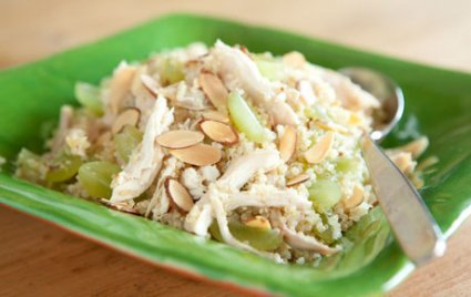 Quinoa Salad with Chicken, Grapes and Almonds