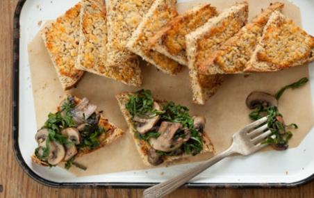 Mushroom and Chard Bruschetta