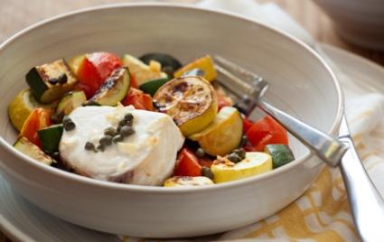 Swordfish with Summer Vegetables