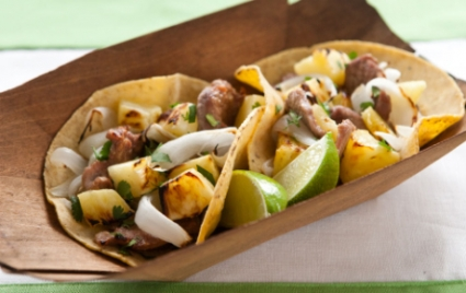 Quick n' Easy Pineapple and Pork Tacos