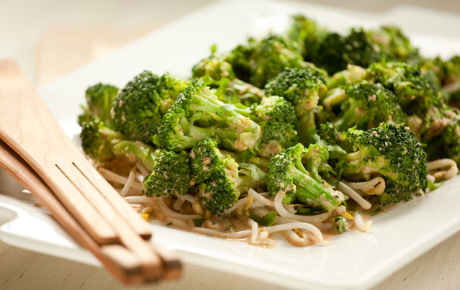 Broccoli Salad with Almond and Chile Dressing